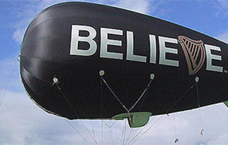 The EyeFlyer blimp was a great success