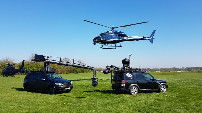 Aerial camera, helicopter camera, tracking vehicle, aerial filming, showreel